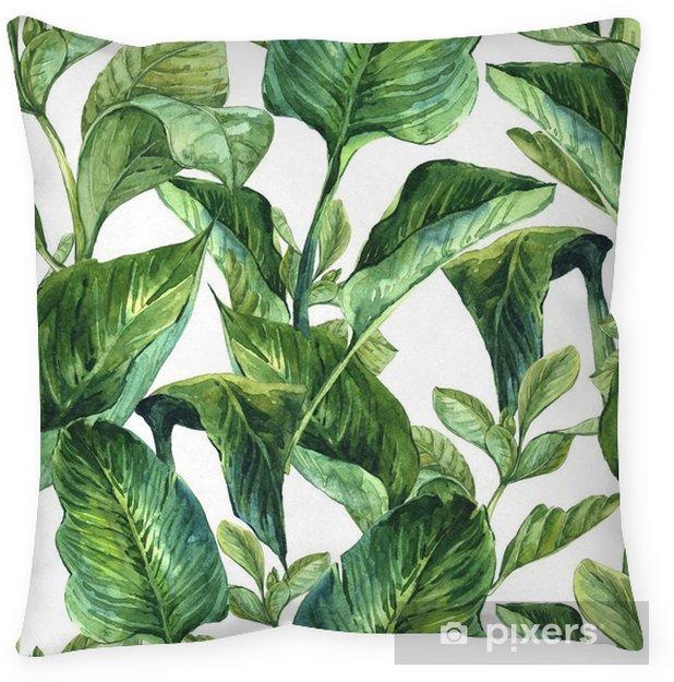 Decoratief sierkussen Waterverf met tropische bladeren - Bloemen en Planten