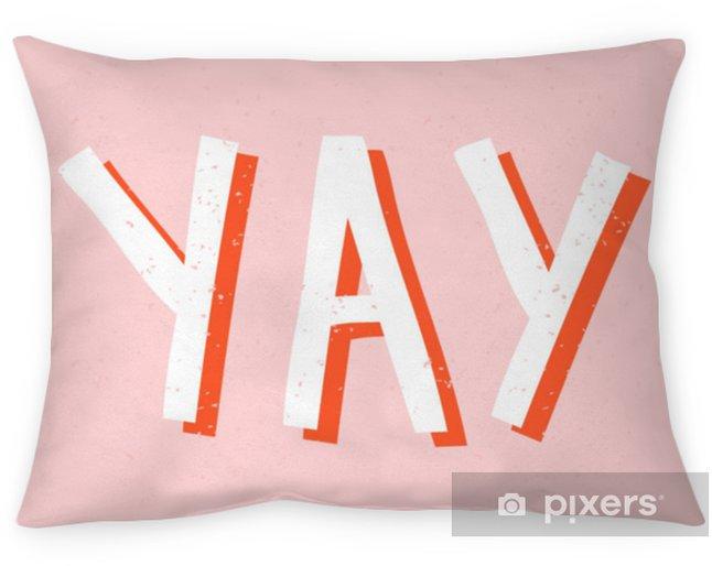 Decoratief sierkussen Yay retro typografisch ontwerp - Grafische Bronnen