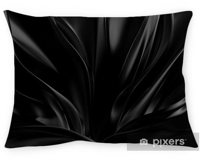 Decoratief sierkussen Zwarte achtergrond met 3D-vorm. 3d illustratie, het 3d teruggeven. - Grafische Bronnen