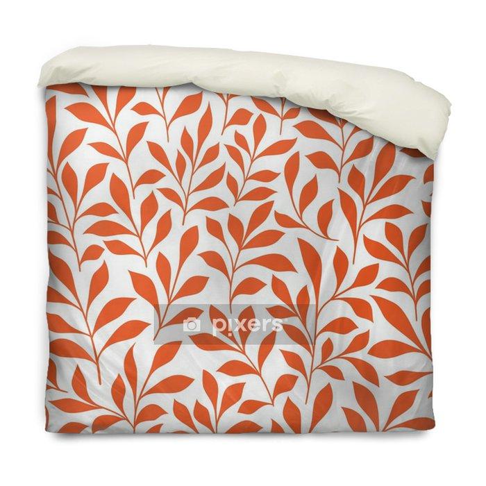 Dekbedovertrek Naadloze oranje wilde kruiden patroon - Grafische Bronnen