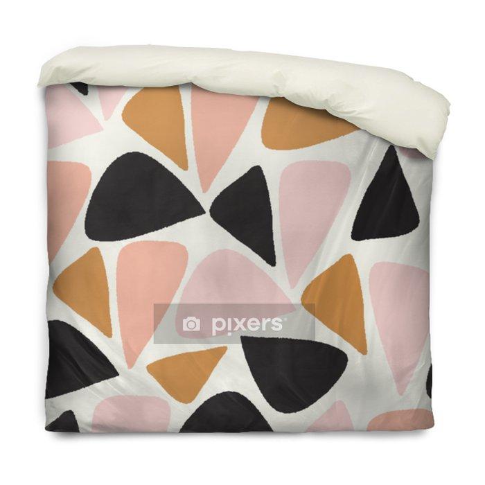 Dekbedovertrek Vector abstracte geometrische naadloze herhalingspatroon in roze, goud, zwart en wit - Grafische Bronnen