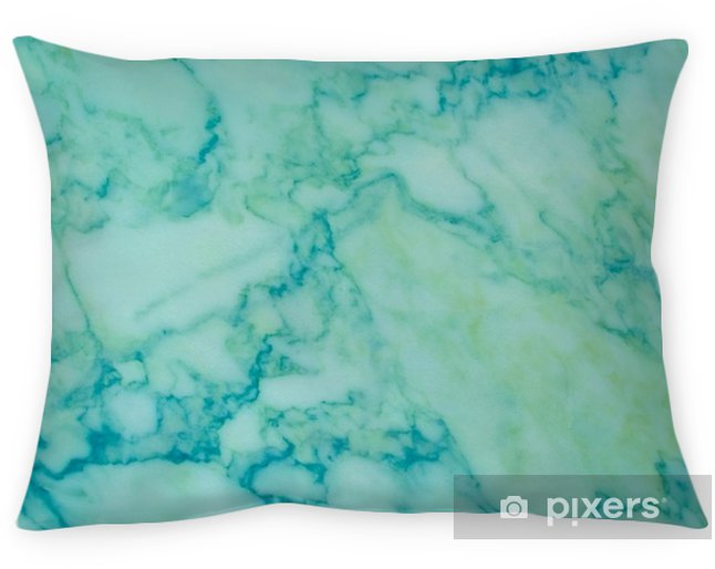 Dekokissen Grüner und blauer Marmormuster-Naturhintergrund - Grafische Elemente