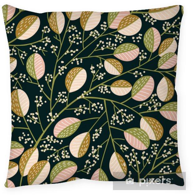 Dekorační polštář Bezešvé vzorek jarního stromu - Rostliny a květiny
