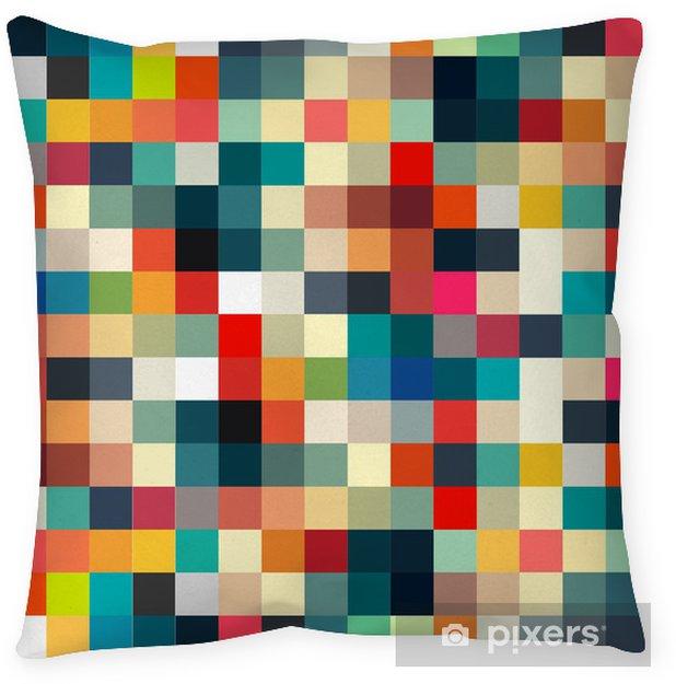 Dekorativ kudde Abstrakt geometriskt retro mönster sömlös för din design - Stilar