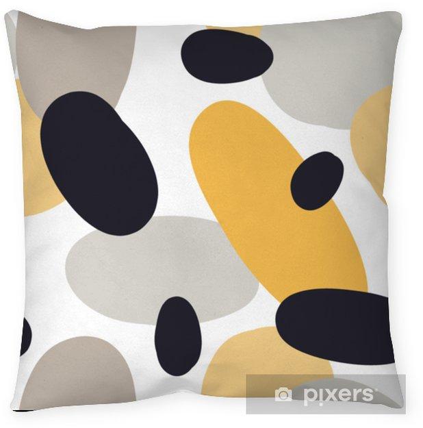 Dekorativ kudde Modernt sömlöst mönster med abstrakta färgglada former: cirklar, ovaler. doodle handritad konsistens. trendig kreativ onfetti-bakgrund för utskrift för modernt och originalt textil, inslagspapper - Grafiska resurser