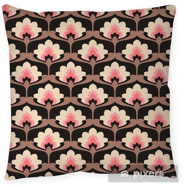 Dekorativ kudde Sömlös vintage blommiga mönster - Grafiska resurser
