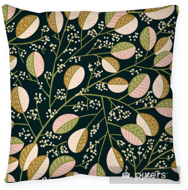 Dekorativ kudde Sömlöst vårmönster - Växter & blommor