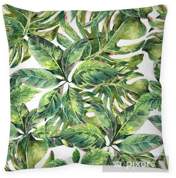 Dekorativ kudde Sommarexotisk vattenfärg sömlöst mönster - Hobby och fritid