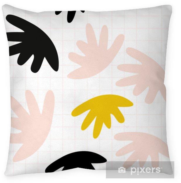 Dekorativ kudde Vektor sömlöst mönster med abstrakta organiska former i pastellfärger och enkel geometrisk bakgrund. - Grafiska resurser