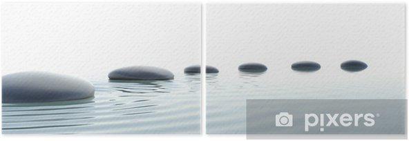 Díptico Camino de piedras zen en formato panorámico - Estilos