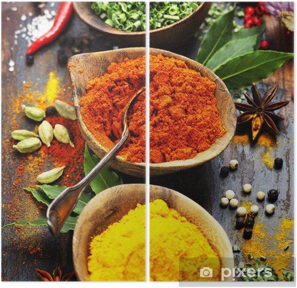 Díptico Especias y hierbas - Culinario