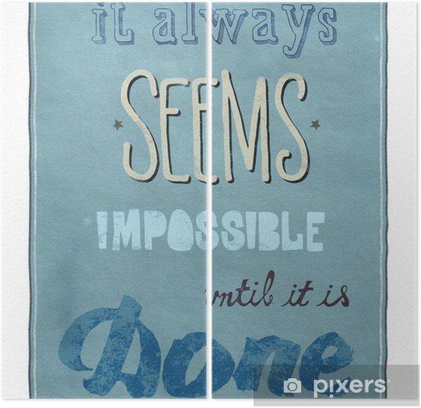 Díptico Motivational poster - Conceitos de Negócios