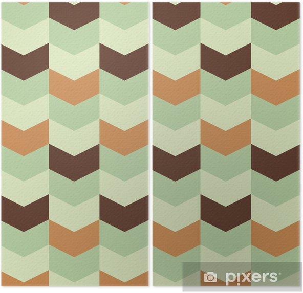 Díptico Patrón geométrico abstracto retro - Abstractos