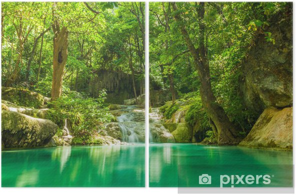 Erawan waterfall. Diptych - Themes