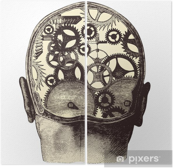 The mechanical brain Diptych - Health and Medicine