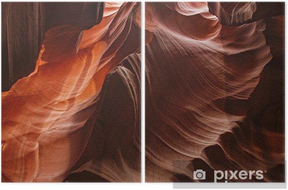 Diptyque Amazing shot dans le Grand Canyon à l'intérieur de la grotte d'antilope - Grottes