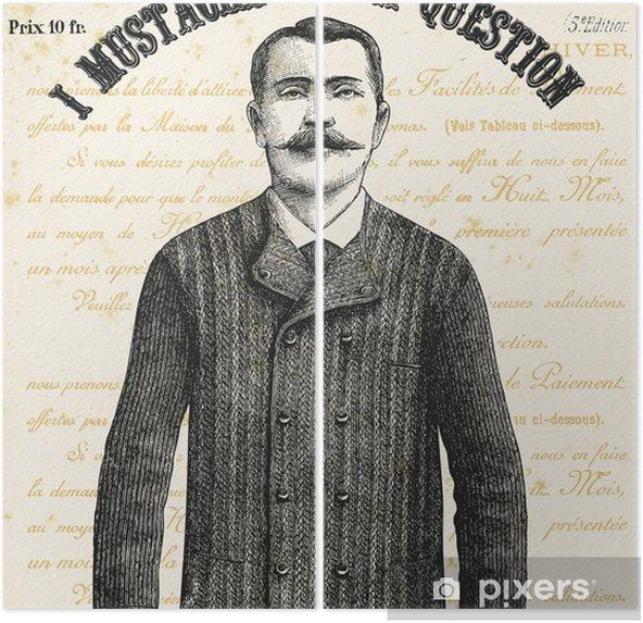 Diptyque Je vous pose une question moustache - Textures