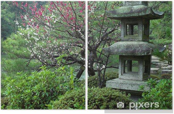 Diptyque Une Lanterne De Pierre Dans Un Jardin Japonais A Kyoto Au