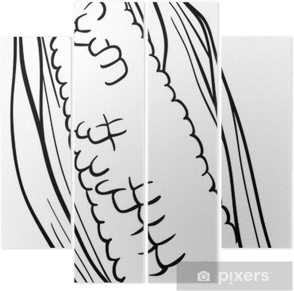 Boyama Kitabı Için Koçanı çizgi üzerinde Mısır Dört Parçalı Pixers