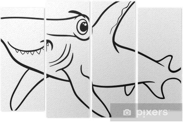çekiç Köpekbalığı Boyama Kitabı Dört Parçalı Pixers Haydi