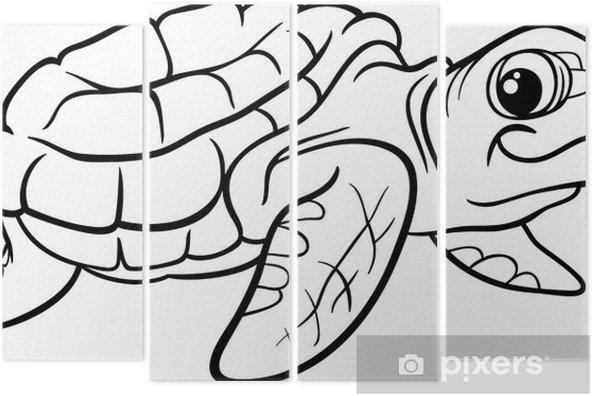 Deniz Kaplumbağa Boyama Kitabı Dört Parçalı Pixers Haydi