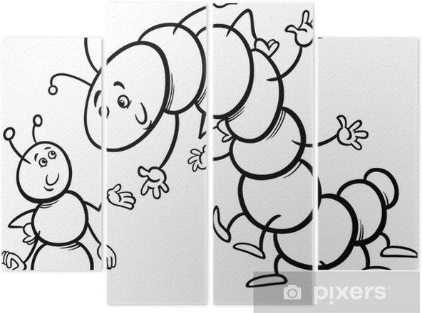 Karınca Ve Tırtıl Boyama Dört Parçalı Pixers Haydi Dünyanızı