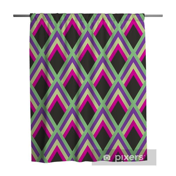 Douchegordijn Abstract geometrisch patroon - Achtergrond