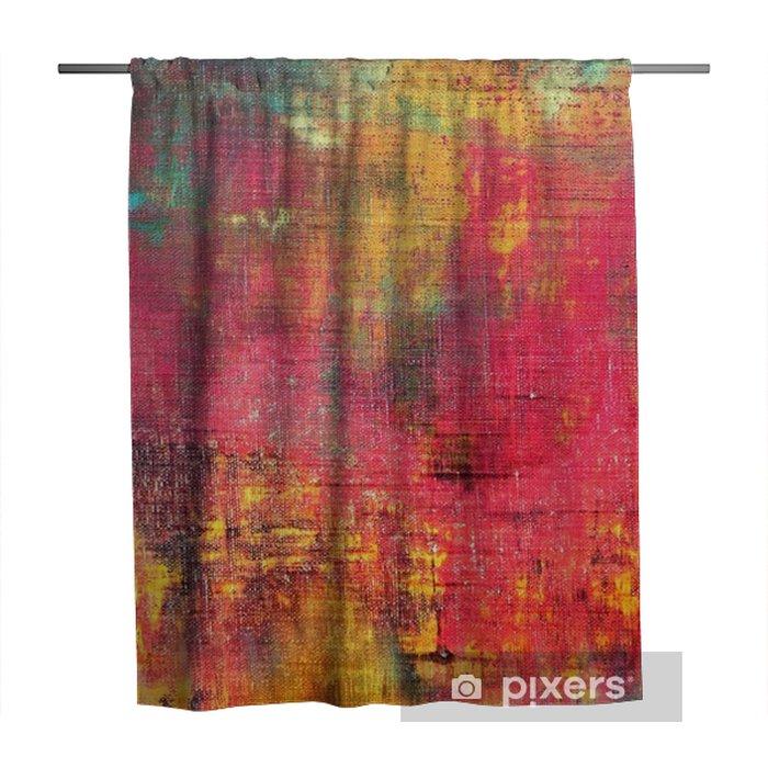 Douchegordijn Abstract kleurrijke hand beschilderd doek textuur achtergrond - Hobby's en Vrije tijd