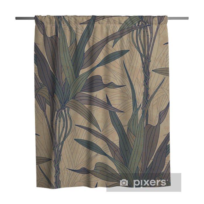 Douchegordijn Bladeren op een oud papier achtergrond -