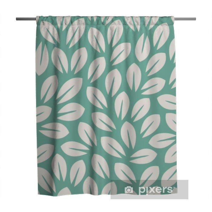 Douchegordijn Laat patroon. eindeloze achtergrond. naadloos - Bloemen en Planten