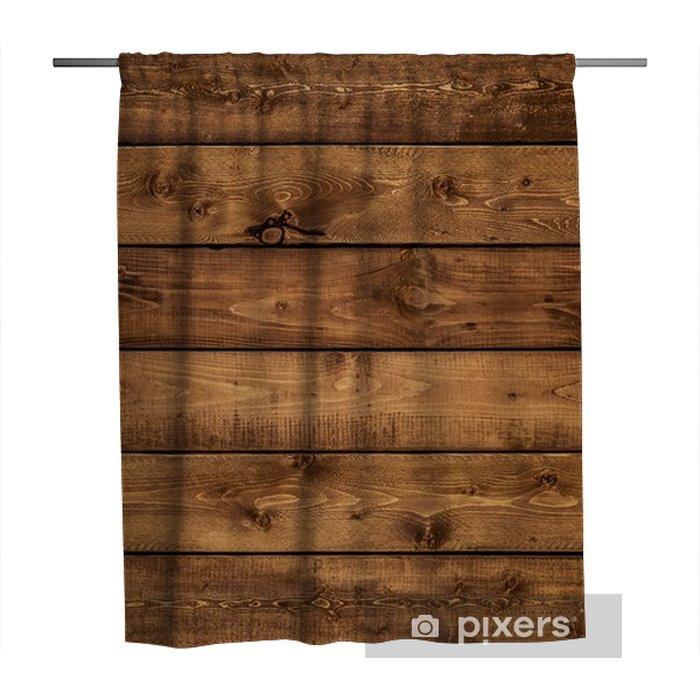 Douchegordijn Middelgrote bruine houten textuurachtergrond die hierboven wordt bekeken van. de houten planken zijn horizontaal gestapeld en hebben een versleten uiterlijk. dit oppervlak zou geweldig zijn als ontwerpelement voor een muur, vloer, tafel enz ... - Grafische Bronnen