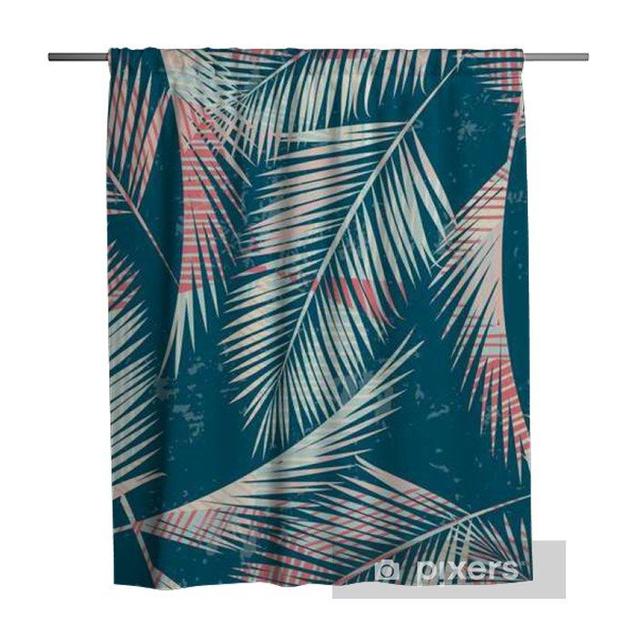Douchegordijn Naadloos exotisch patroon met tropische planten. - Planten en bloemen