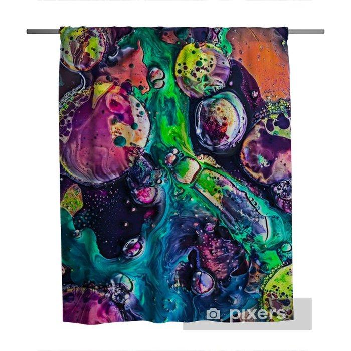 Douchegordijn Peinture foto macro - Grafische Bronnen