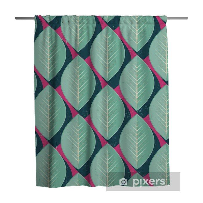 Douchegordijn Vector Kleurrijke abstracte retro naadloos geometrisch patroon - Bloemen en planten