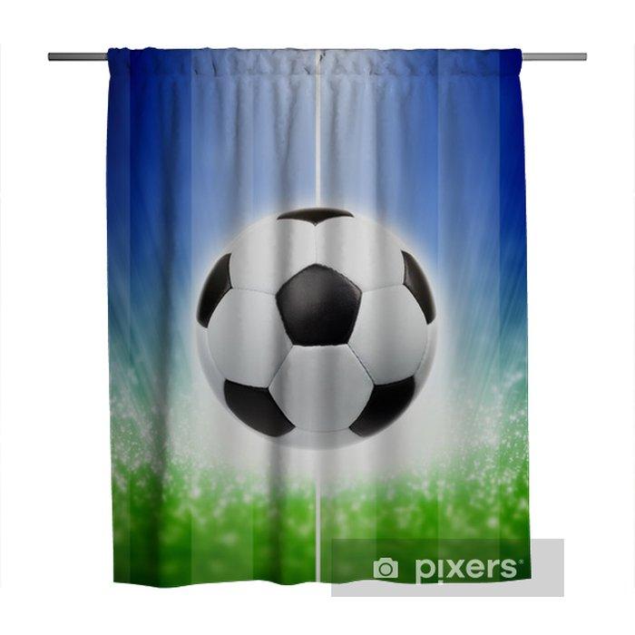 Douchegordijn Voetbal achtergrond - Team sport