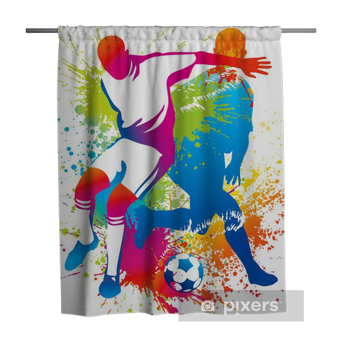 Douchegordijn Voetballers met een voetbal - Bestemmingen