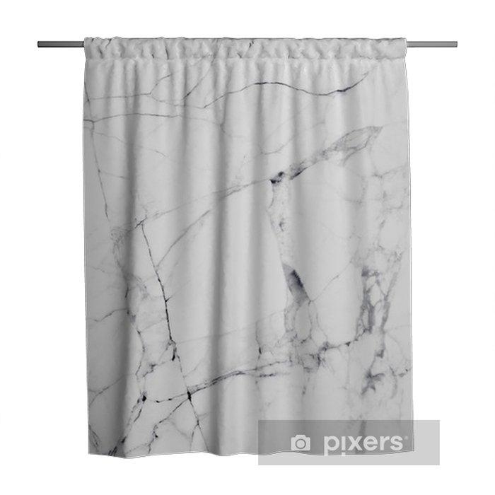 Douchegordijn Witte marmeren textuur en achtergrond. - Grafische Bronnen