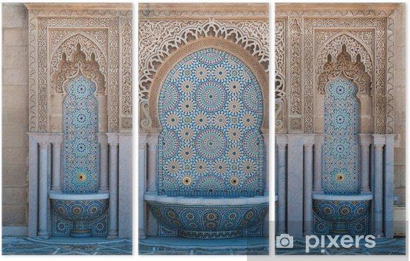Drieluik Marokkaanse betegelde fonteinen - Afrika
