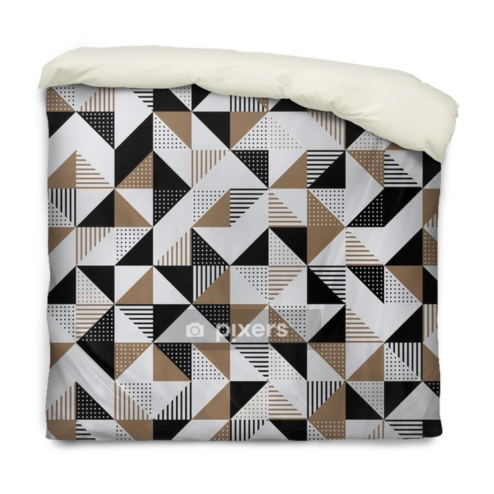 A gold and black geometric background. Duvet Cover - Graphic Resources