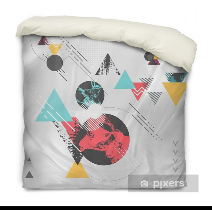 Abstract modern geometric background Duvet Cover - Graphic Resources