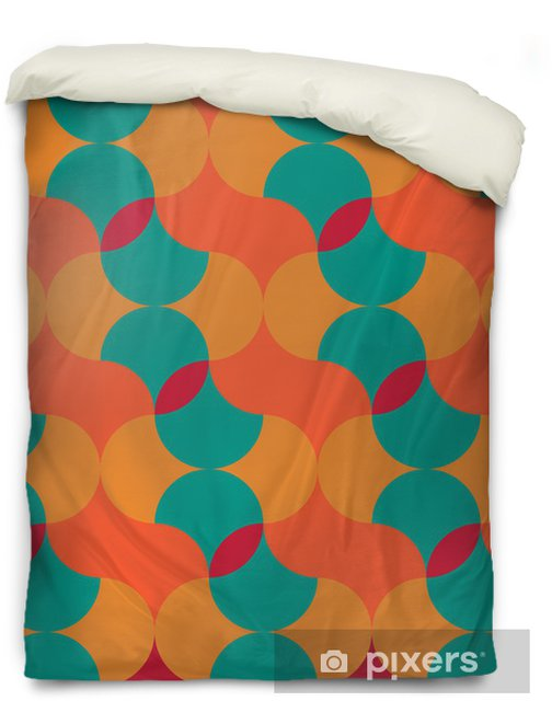 abstract retro geometric pattern Duvet Cover - Backgrounds