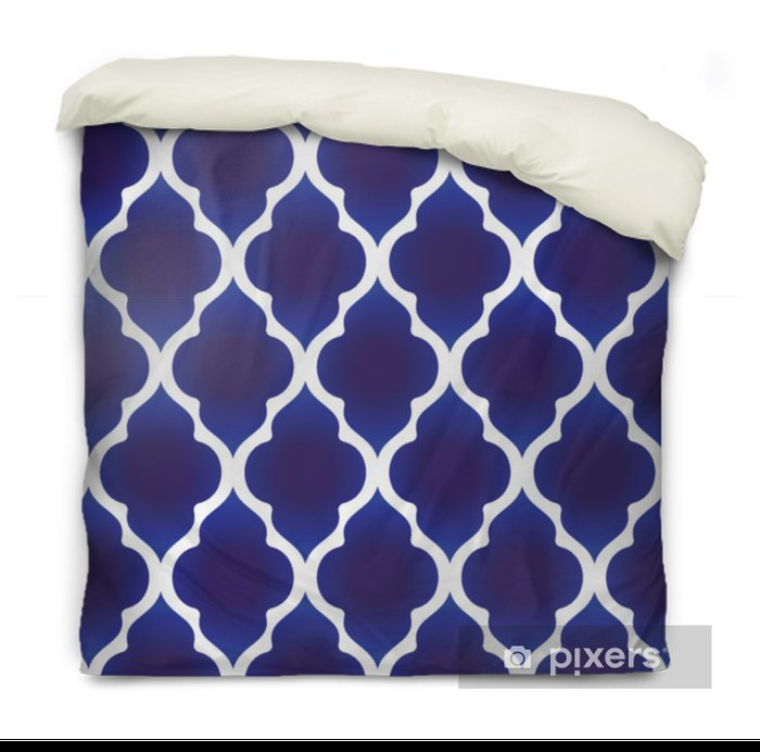 blue and white Islamic pattern Duvet Cover - Graphic Resources