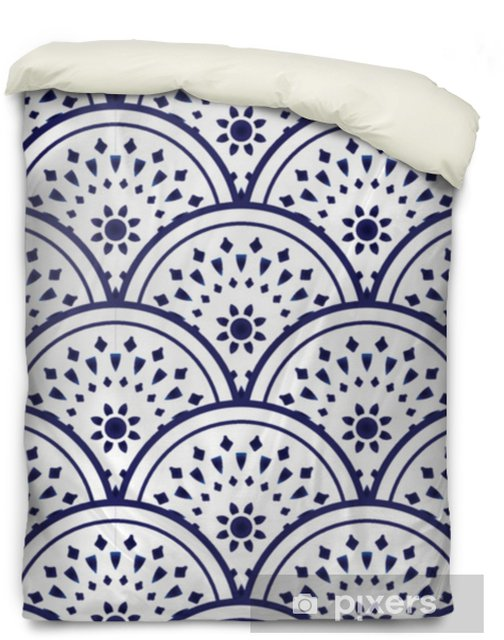 ceramic pattern blue and white Duvet Cover - Graphic Resources