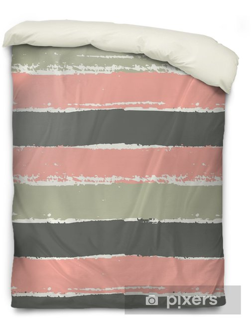 Hand Drawn Striped Seamless Pattern Duvet Cover - Graphic Resources