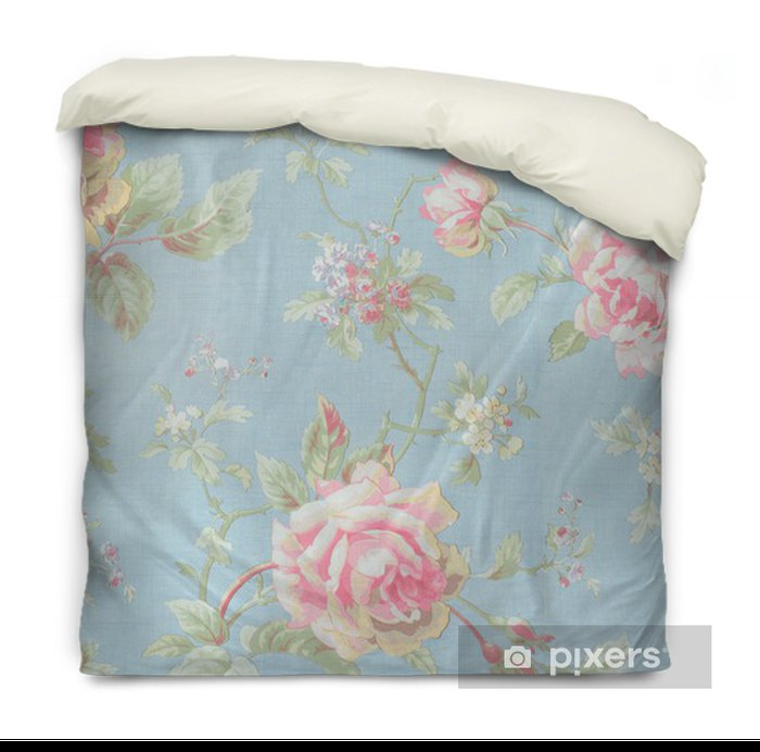 Rose fabric background Duvet Cover - Styles