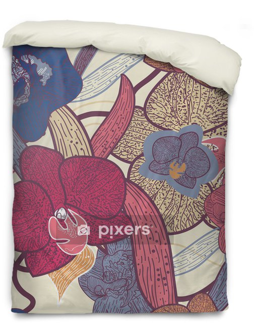 Seamless floral texture Duvet Cover - Backgrounds
