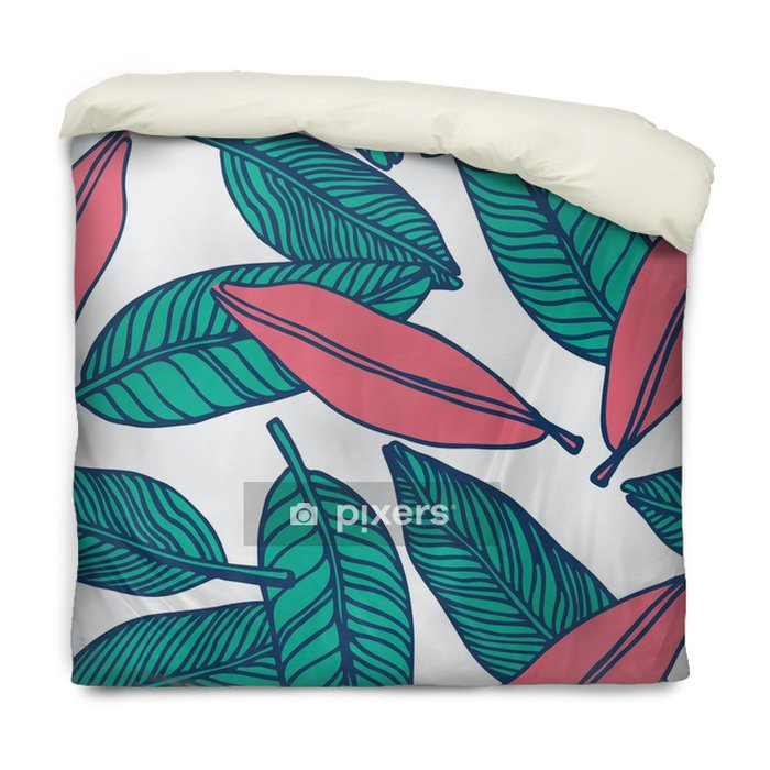 seamless tropical jungle floral pattern background Duvet Cover - Graphic Resources