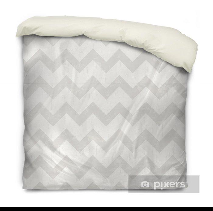 seamless white chevron pattern Duvet Cover - Styles