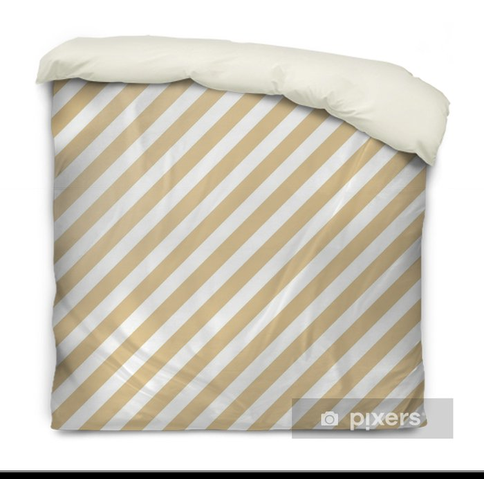 Stripe beige seamless pattern Duvet Cover - Graphic Resources