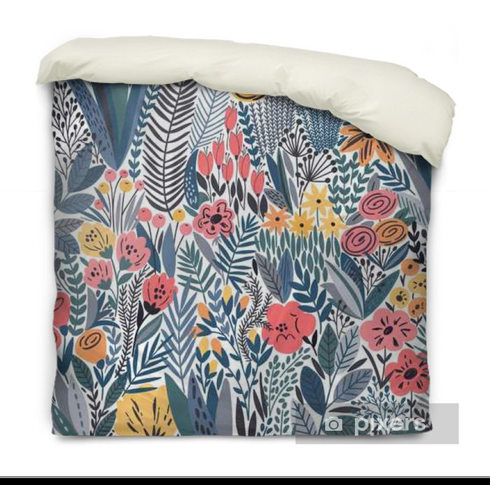 Tropical seamless floral pattern Duvet Cover - Plants and Flowers